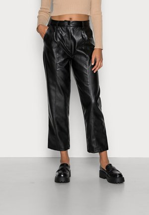 SEAM DETAIL PANTS - Trousers - black