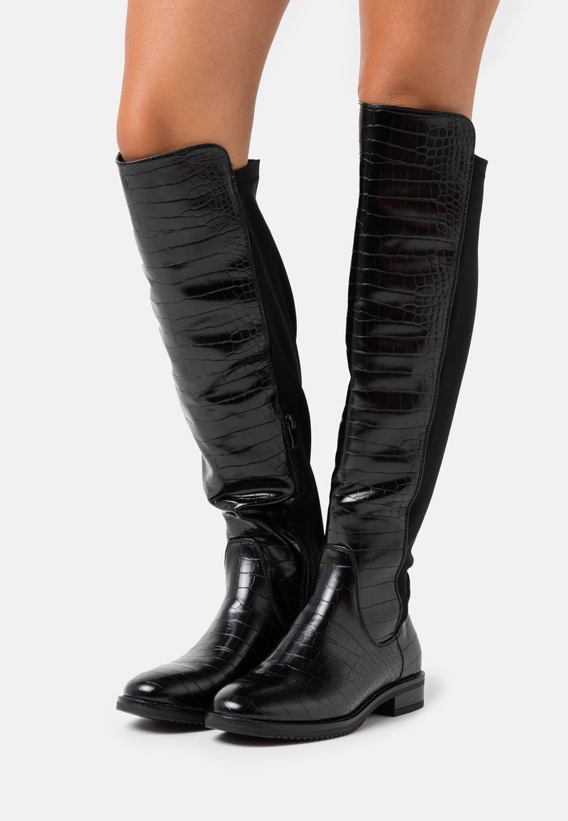 XTI - Kozačky nad kolena - black