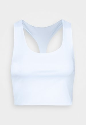 LOVE YOU A LATTE REVERSIBLE VESTLETTE - Top - white/baby blue