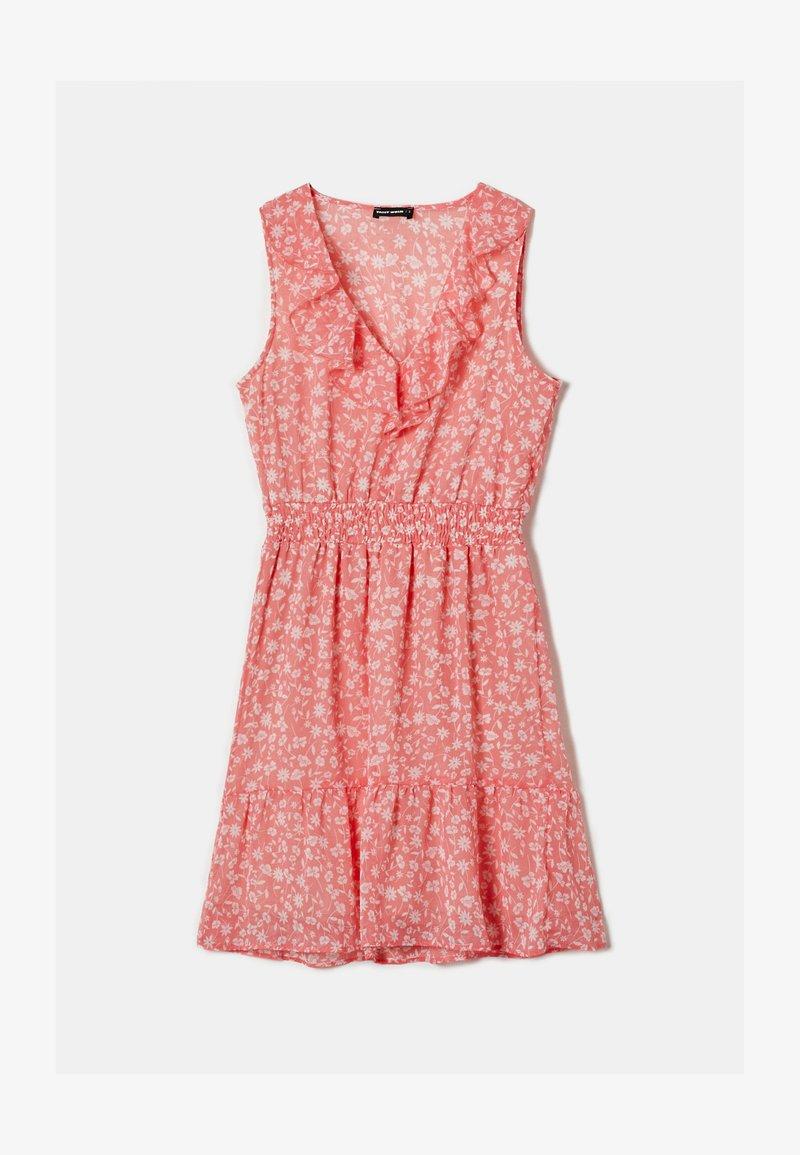 TALLY WEiJL - MIT RÜSCHEN - Day dress - red/white