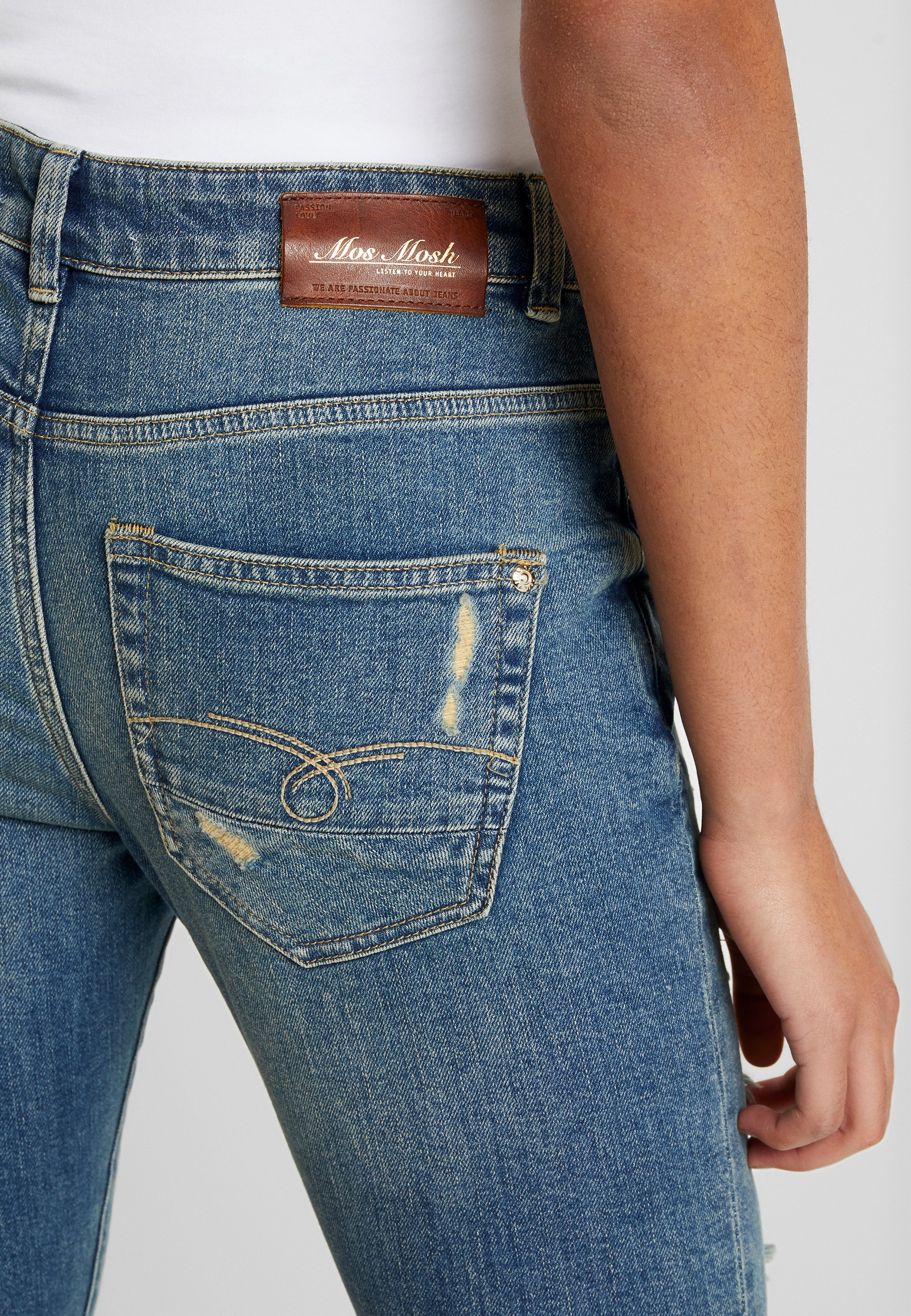 Mos Mosh BRADFORD WORKED - Jeans Skinny Fit - blue denim
