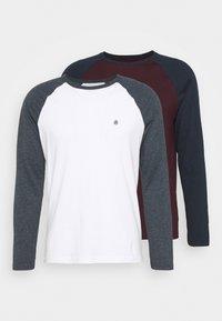 Burton Menswear London - LONG SLEEVE RAGLAN 2 PACK - Long sleeved top - off white - 4