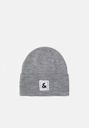 JACSTUART LONG BEANIE - Bonnet - grey melange/white
