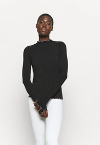 Free People - SOLID HIGH JUMP - Long sleeved top - black - 1