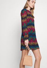Never Fully Dressed - LEOPARD PLEATED MINI - Day dress - multi - 3