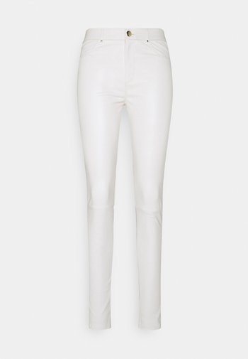 PASSION - Leather trousers - antique white