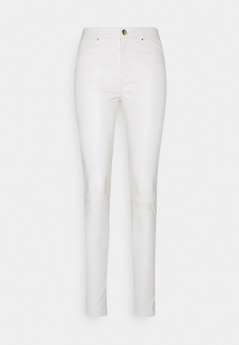 Ibana - PASSION - Leather trousers - antique white
