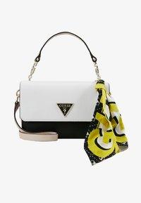 Guess - ANALISE CROSSBODY FLAP - Handbag - white - 5