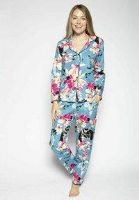 Cyberjammies - Pyjamahousut/-shortsit - turq floral - 1