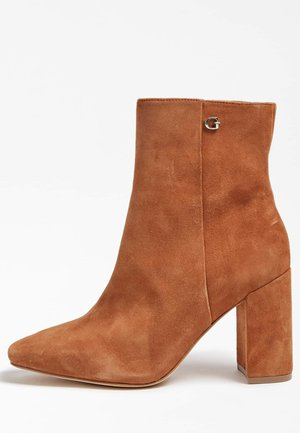 ADELIA - High heeled ankle boots - hellbraun