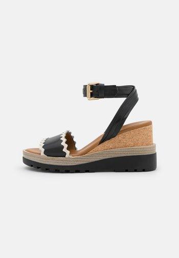 ROBIN - Korkeakorkoiset sandaalit - black