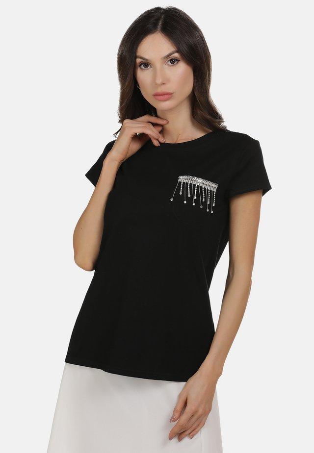 SHIRT - T-shirt z nadrukiem - black