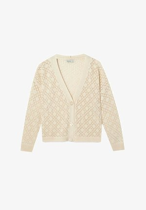 MIT LOCKEREM STRICKMUSTER  - Cardigan - white