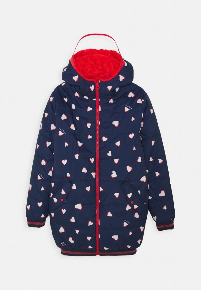 REVERSIBLE PUFFER JACKET - Zimní bunda - navy/red