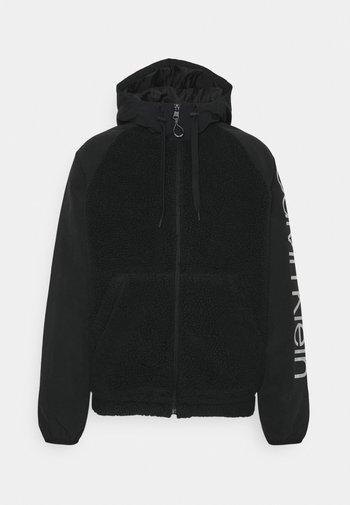 SHERPA ZIP HOODIE UNISEX - Light jacket - black