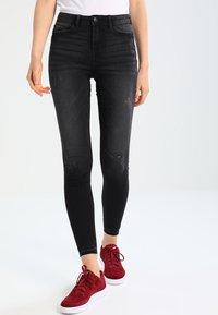 JDY - JDYSKINNY JAKE ANKLE - Jeans Skinny Fit - dark grey denim - 0