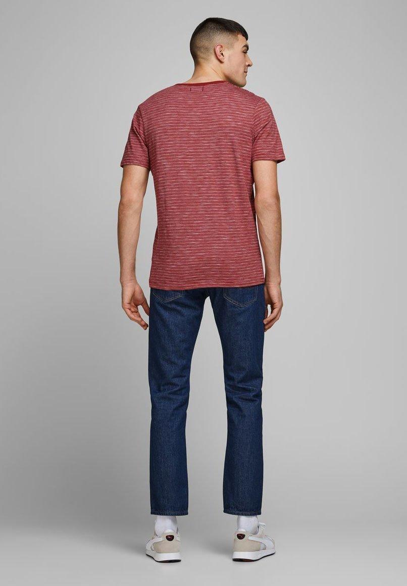 Jack & Jones PREMIUM Print T-shirt - Red Dahlia DvpNs