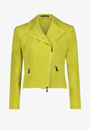 Faux leather jacket - yellow