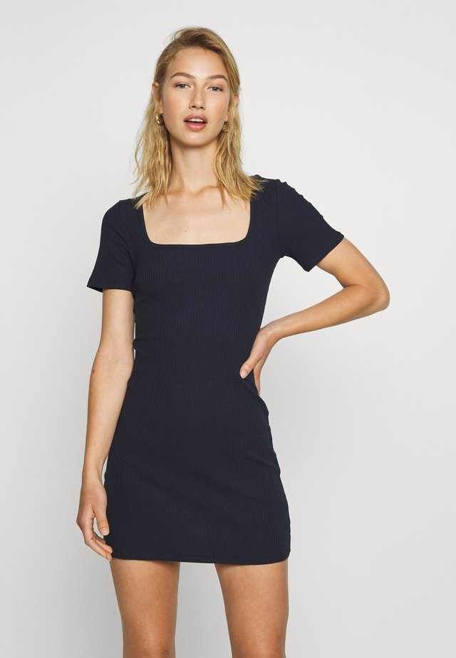 MINI DRESS WITH BACK DETAIL - Shift dress - navy