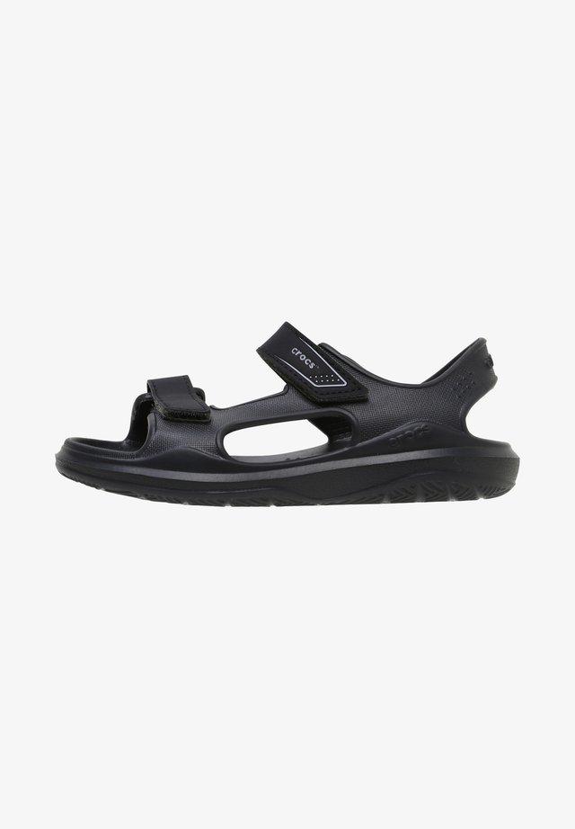 SWIFTWATER - Sandały kąpielowe - black/slate grey