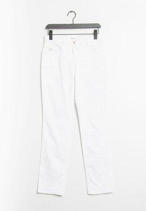 Jeansy Straight Leg - white