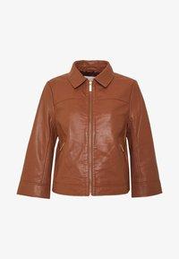 Part Two - ADELAIDE - Veste en cuir - brown - 5