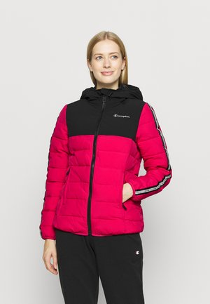 HOODED JACKET LEGACY - Kurtka sportowa - pink/black