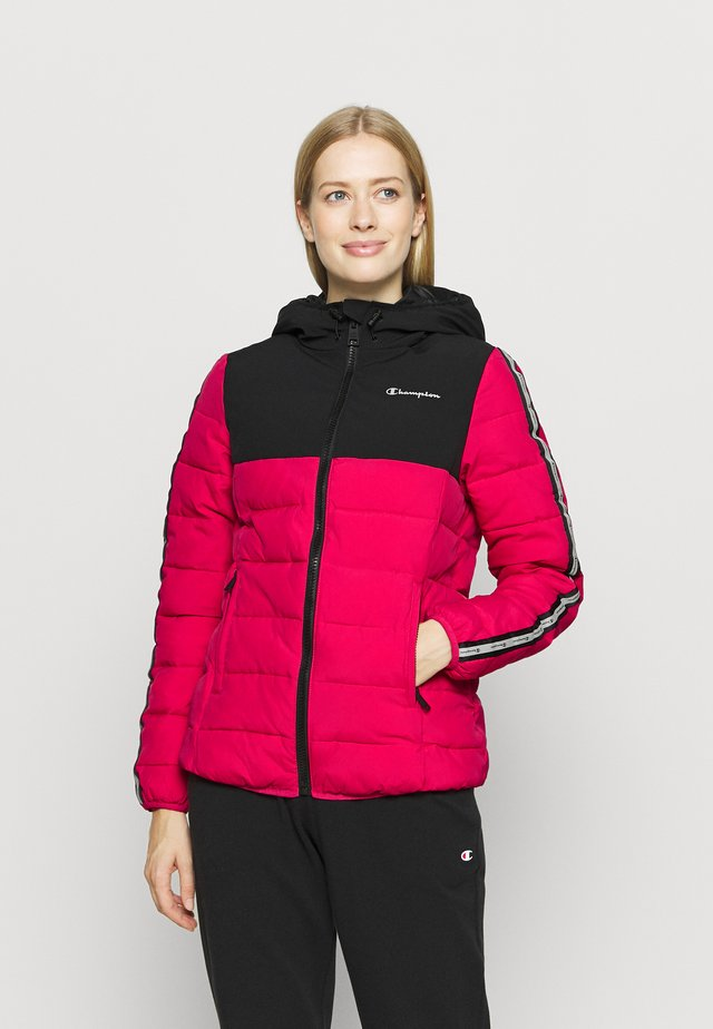 HOODED JACKET LEGACY - Verryttelytakki - pink/black