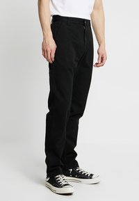 Carhartt WIP - RUCK SINGLE KNEE PANT MILLINGTON - Trousers - black stone washed - 0