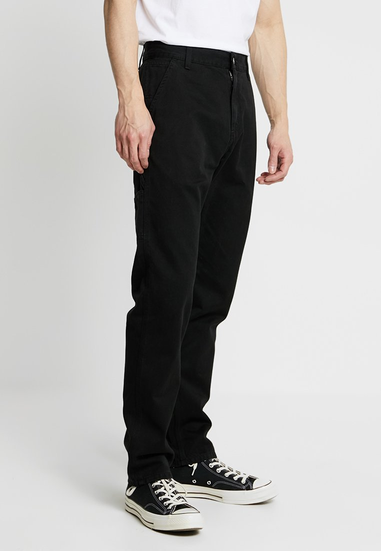 Carhartt WIP - RUCK SINGLE KNEE PANT MILLINGTON - Trousers - black stone washed