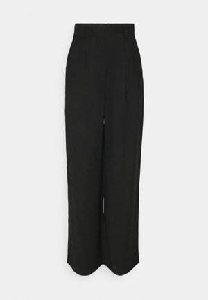 PALAZZO TROUSER - Stoffhose - black