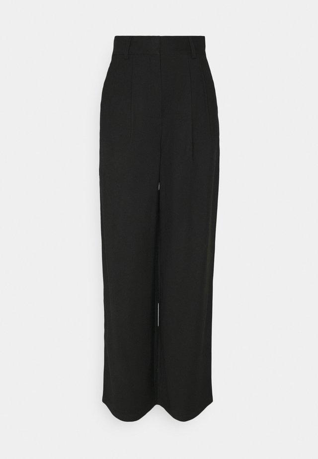 PALAZZO TROUSER - Trousers - black