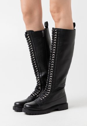 ROCK LONG  - Botas con cordones - black