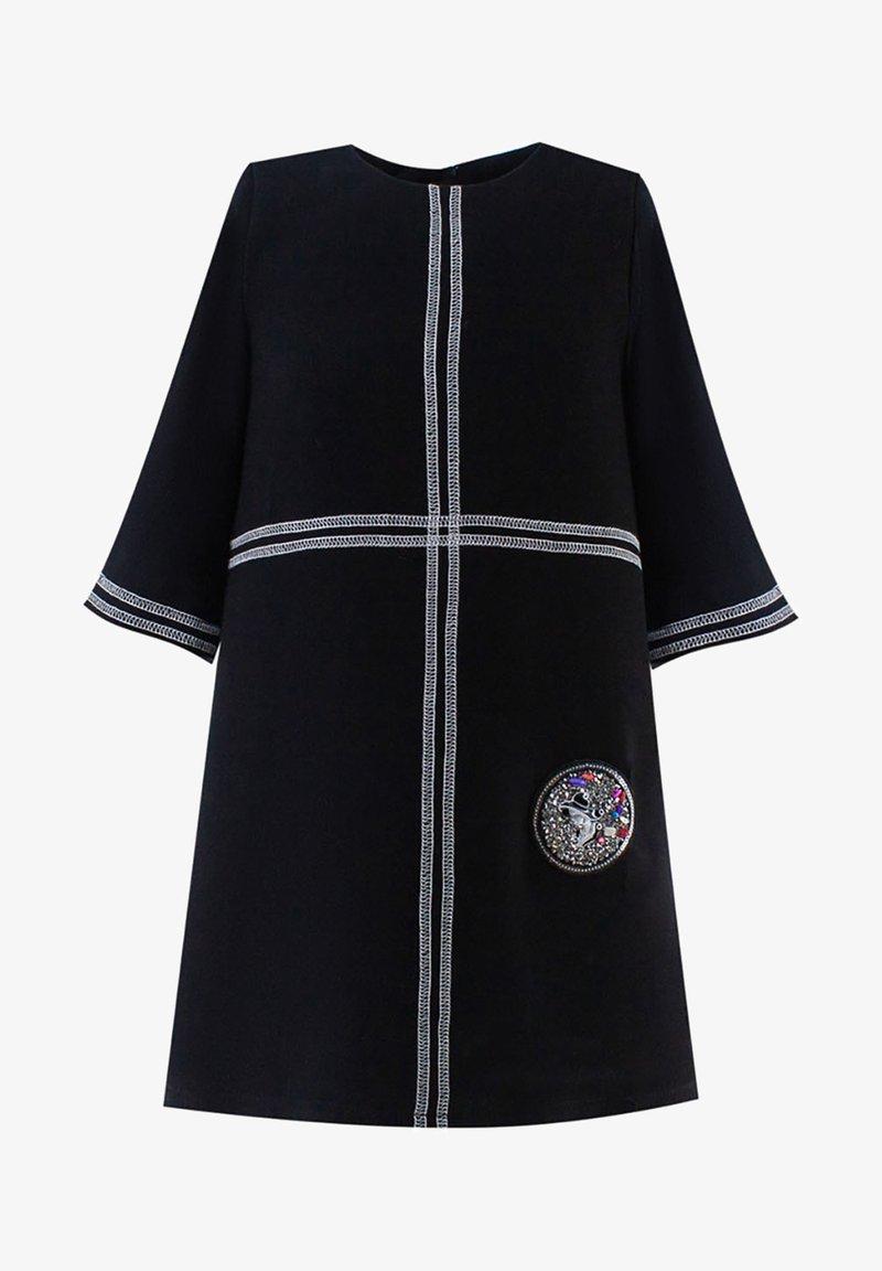 Evika Kids - WITH WHITE LINES - Day dress - black