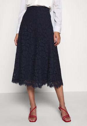 A-line skirt - navy blue