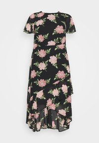 Dorothy Perkins Curve - OCCASIONL SLEEVE HIGH LOW  DRESS FLORAL - Day dress - multi coloured - 4