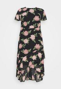 Dorothy Perkins Curve - OCCASIONL SLEEVE HIGH LOW  DRESS FLORAL - Robe d'été - multi coloured - 4