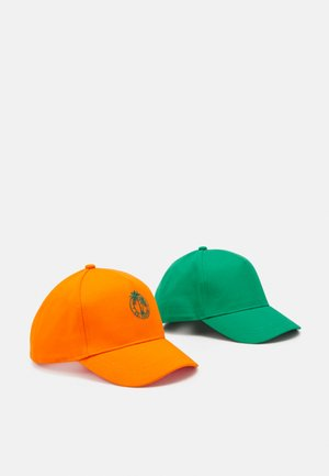 NKMBURKI 2 PACK UNISEX - Cap - melon/medium green