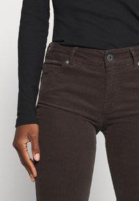Marc O'Polo - ALBY SLIM - Trousers - dark chocolate - 4