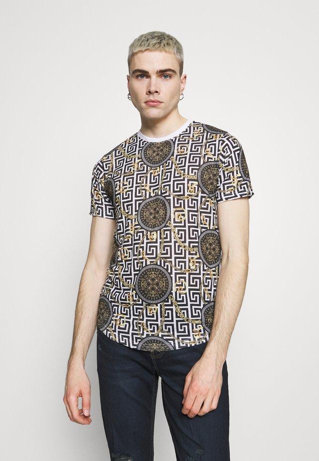 CALEB - Print T-shirt - optic white