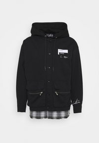 The Couture Club - LAYERED SHACKET WITH HOOD - Tunn jacka - black - 0