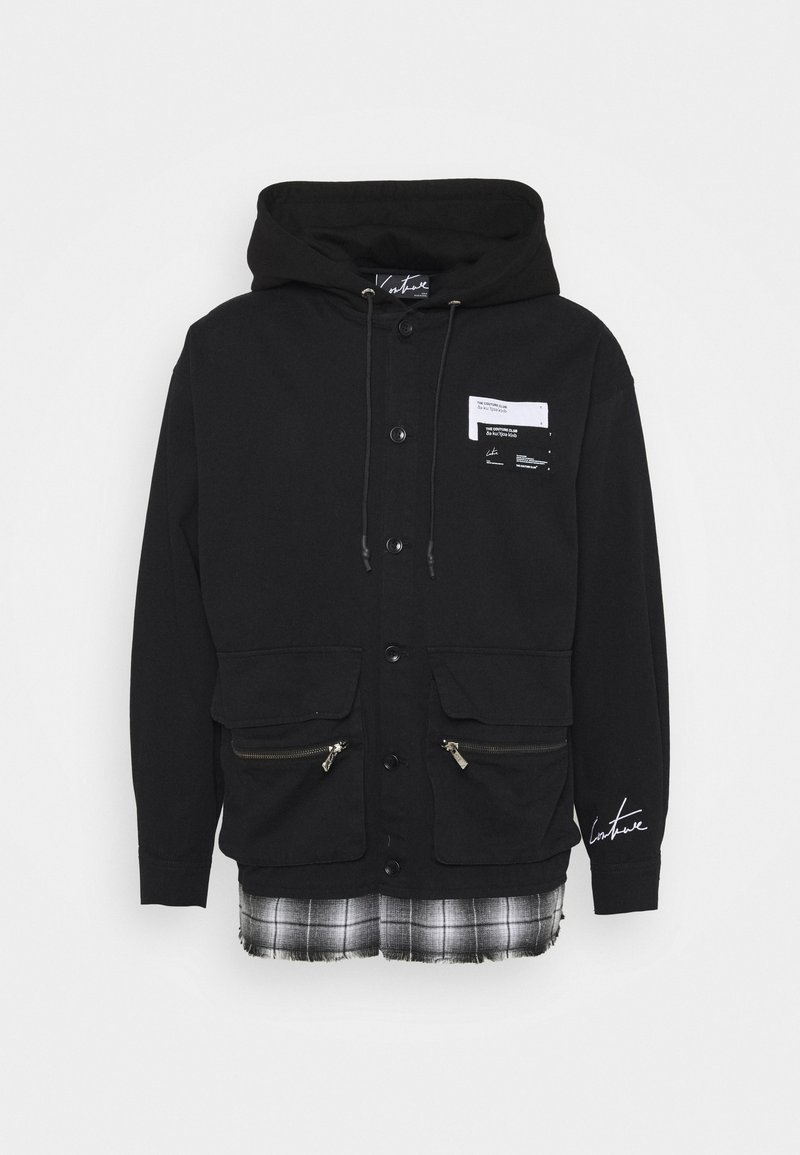 The Couture Club - LAYERED SHACKET WITH HOOD - Tunn jacka - black