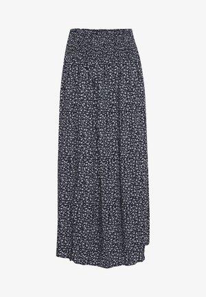 PZBENEDIKTE  - Maxi skirt - dark sapphire flower printed