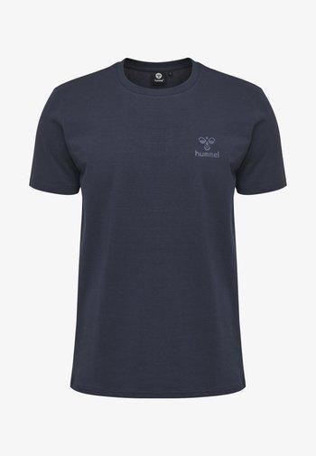 HMLSIGGE - T-shirt med print - black iris