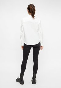 Pieces - Button-down blouse - bright white - 2