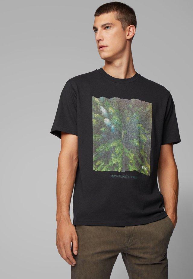 TFREE  - T-shirt con stampa - black