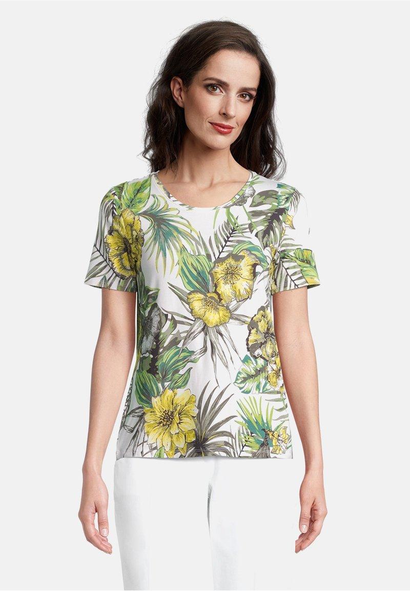 Betty Barclay - Print T-shirt - white/green