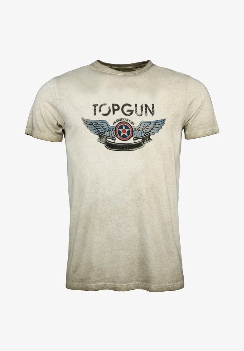 TOP GUN - Print T-shirt - olive
