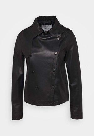 HARMONY - Leather jacket - black