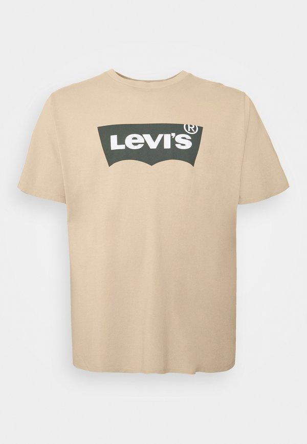 Levi's® Plus BIG GRAPHIC TEE - T-shirt z nadrukiem - beige/sand/beżowy Odzież Męska FHJM